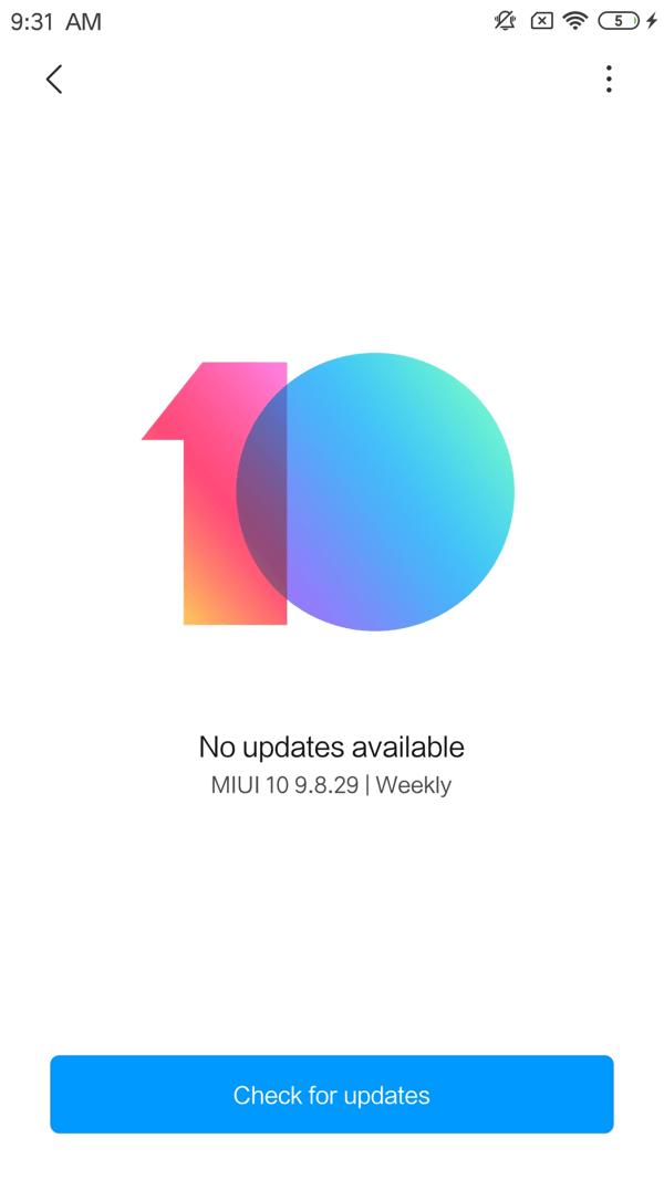 Xiaomi Actualizar MIUI
