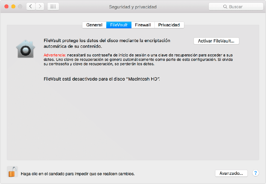 usar Filevault para encriptar carpeta