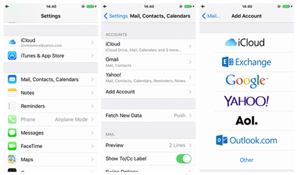 Sincronizar notas de iPhone con Gmail