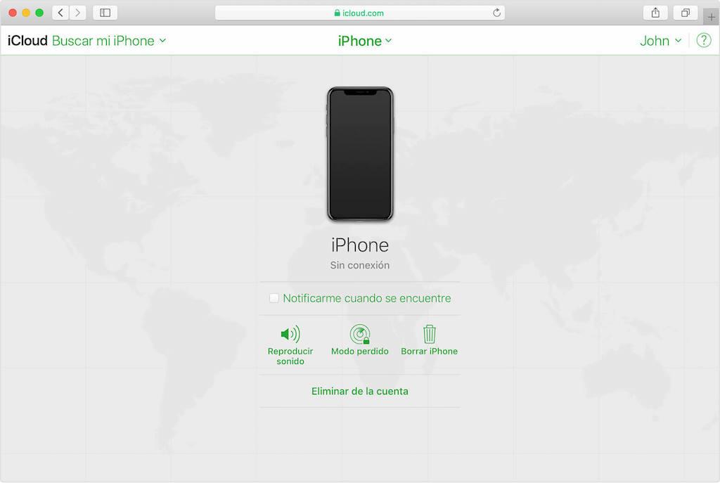 restaurar iPhone de fábrica con iCloud