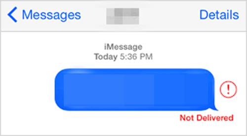 iMessage no enviado