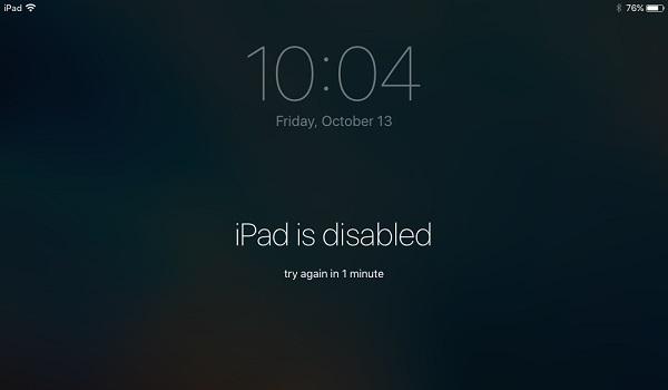 iPad está desactivado