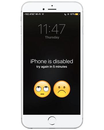 iphone esta desactivado