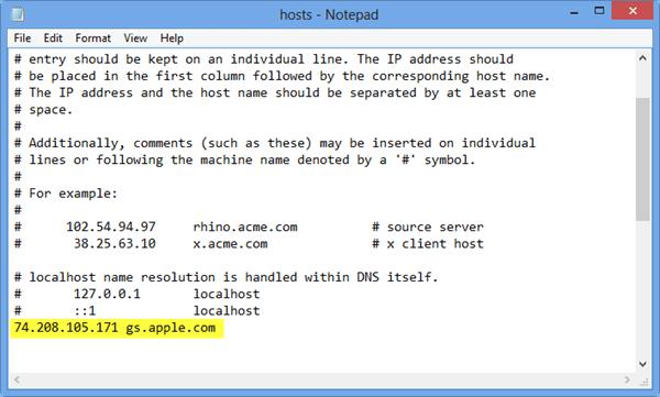 itunes error 3194 host archivos