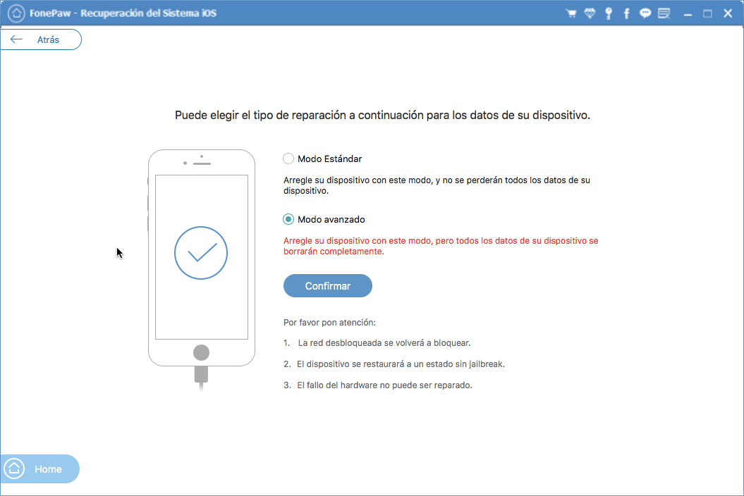 restaurar iPhone de fábrica sin iTunes