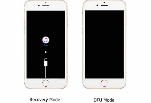 modo de recuperación vs modo de DFU