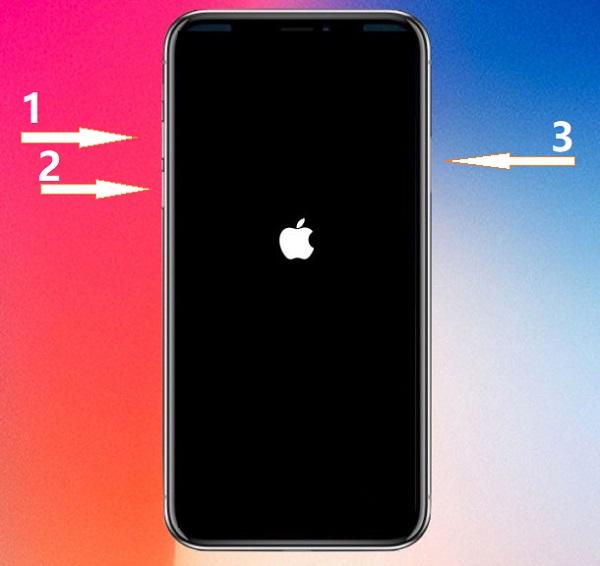 reiniciar iPhone X/8 con botones