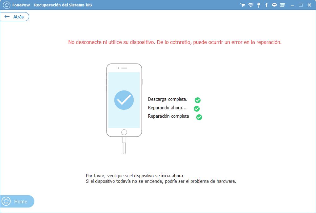 empezar a desbrickear iPhone con Recuperación de Sistema iOS