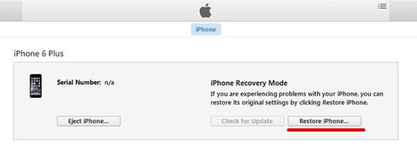restablecer iphone en modo recuperacion