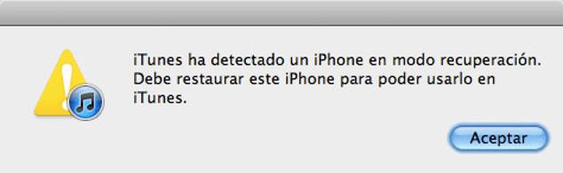 restaurar iPhone para poder usarlo en iTunes
