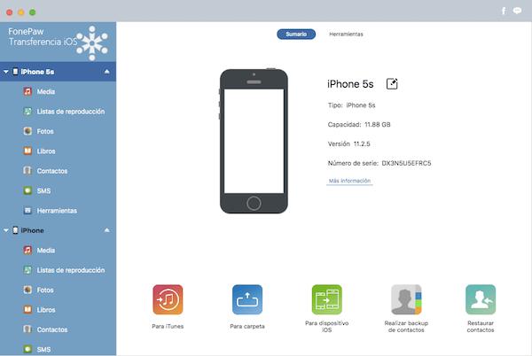 conectar-a-FonePaw-Transferencia-de-iOS