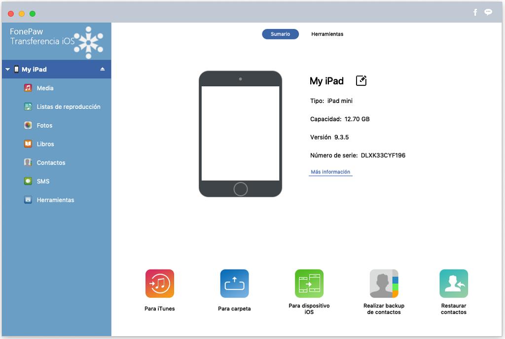 conectar el iPad a Mac