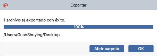 Exportando música a Mac