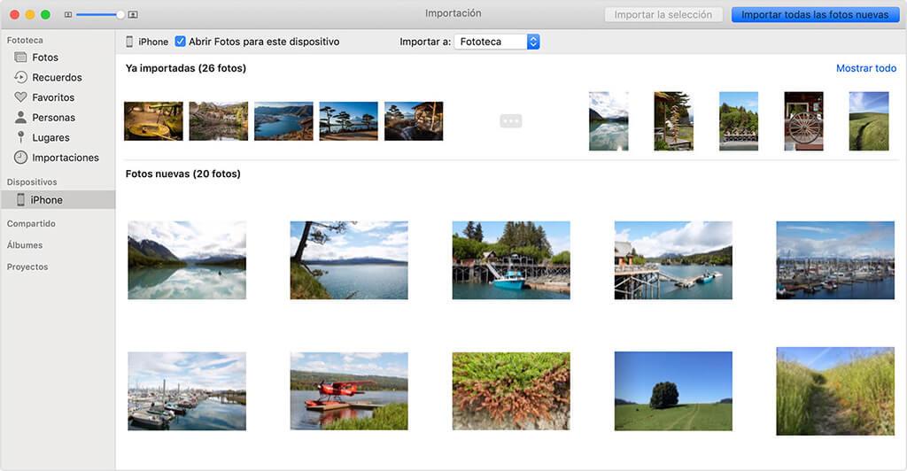 No puedo pasar las fotos del iPhone al Mac