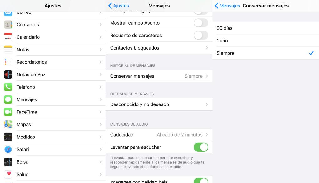 conservar mensajes de iPhone