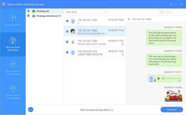 recuperar conversaciones de WhatsApp con iMyFone D-Back Recuperación de Datos iPhone