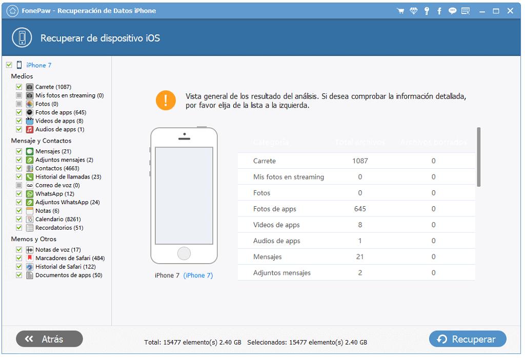 Recuperar Datos Desde iPhone