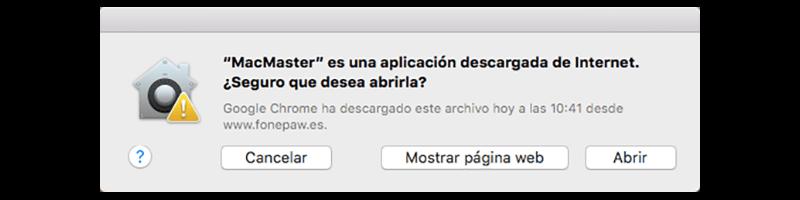 abrir FonePaw MacMaster