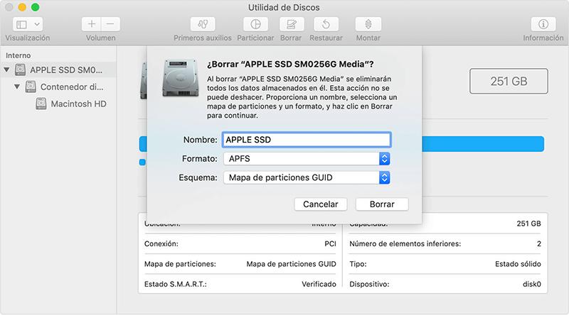 borrar todo el disco duro en Mac