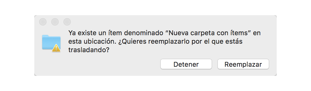 combinar carpeta en Mac