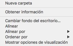 Crear una carpeta en Mac