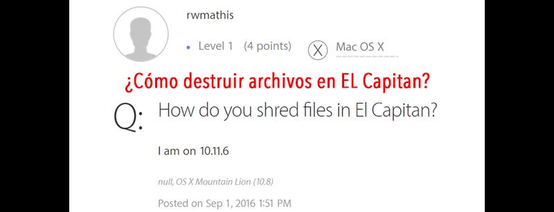 destruir archivos de Mac