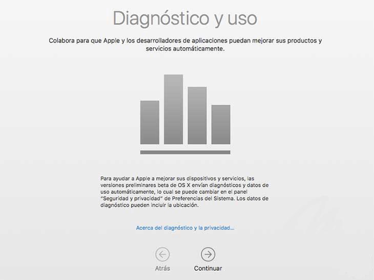 diagnóstico y uso de Mac