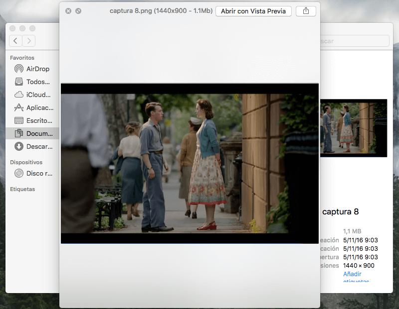 función de vista previa de Mac