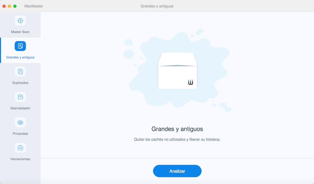 Limpiar llos archivos pesados/antiguos en su Mac