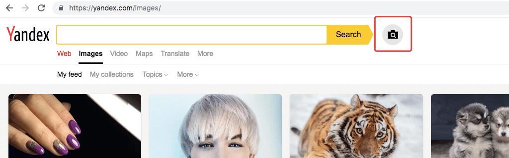 subir una imagen a Yandex