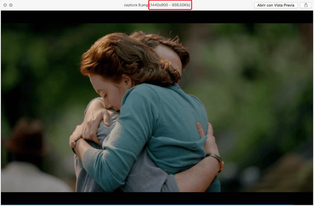 vista previa en Mac
