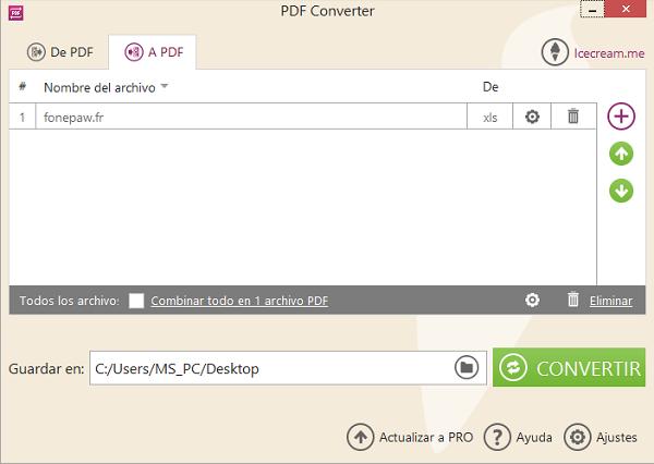 convertir archivos de xls a pdf