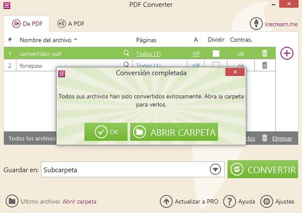 pasar archivo PDF a TIFF