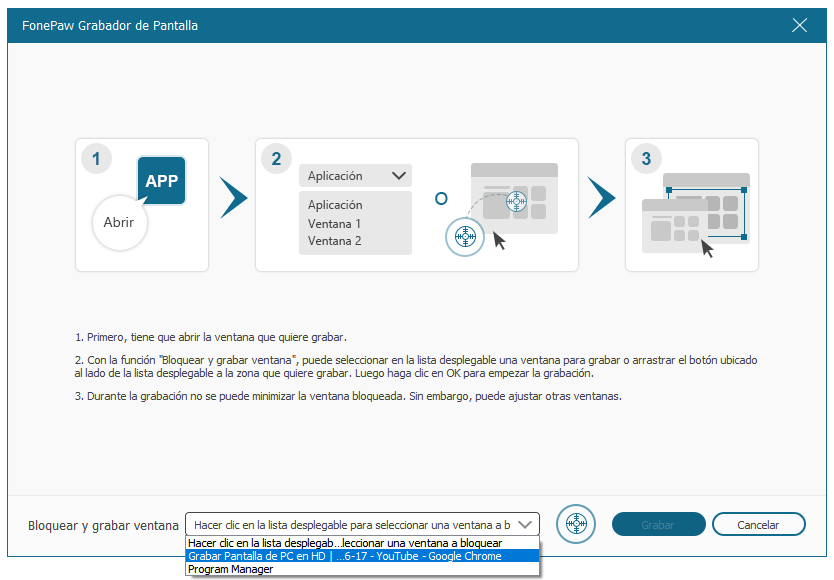 bloquear pantalla con FonePaw Grabador de Pantalla