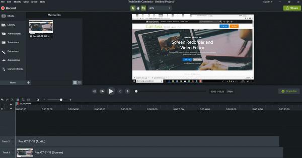 Camtasia para crear y compartir vídeos