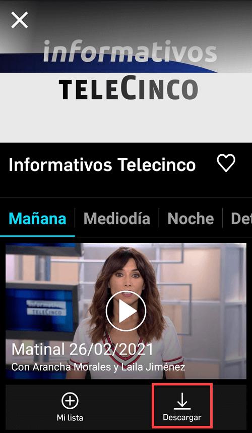 Descargar los videos de Telecinco en Mitele