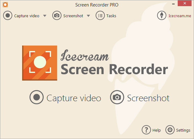 abrir Incecream Screen Recorder