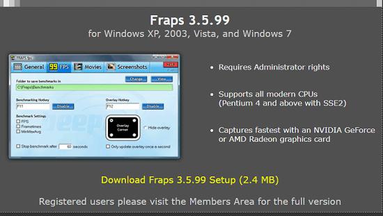 grabar pantalla con Fraps