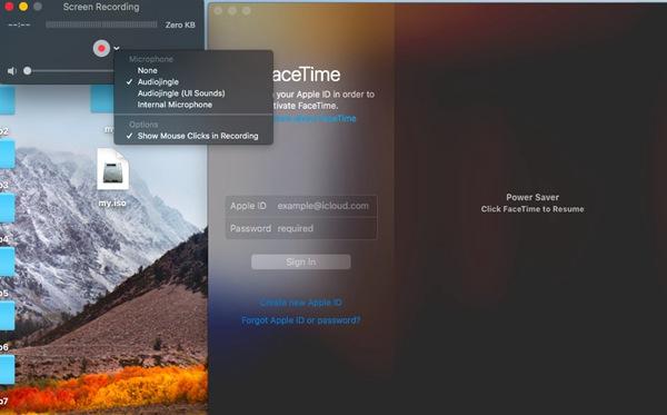 presiona archivo en QuickTime
