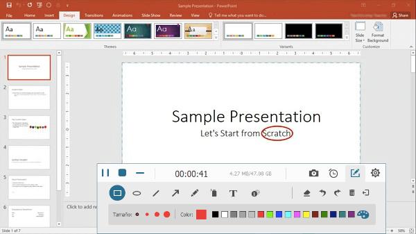 grabando Powerpoint