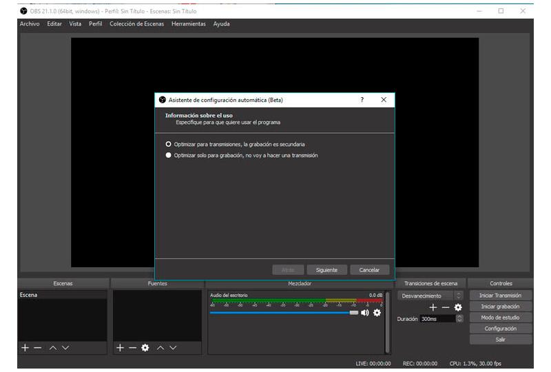 grabar gameplay con OBS
