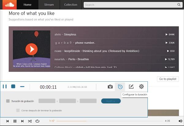grabar música de SoundCloud