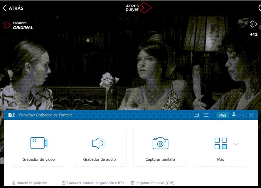 Abrir el video de ATRESplayer y el programa FonePaw