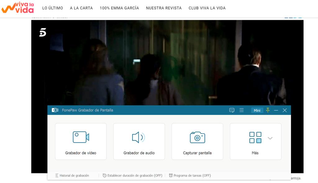 Grabar los videos de Telecinco