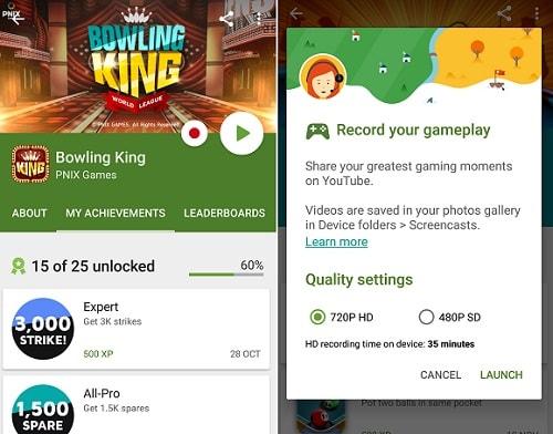 grabar videollamada con Google Play Games