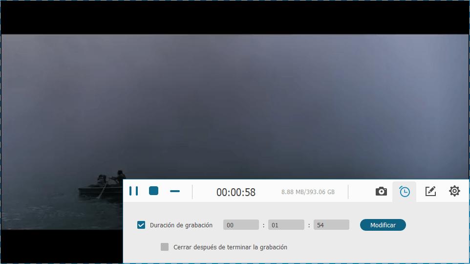 grabando vídeo de Netflix