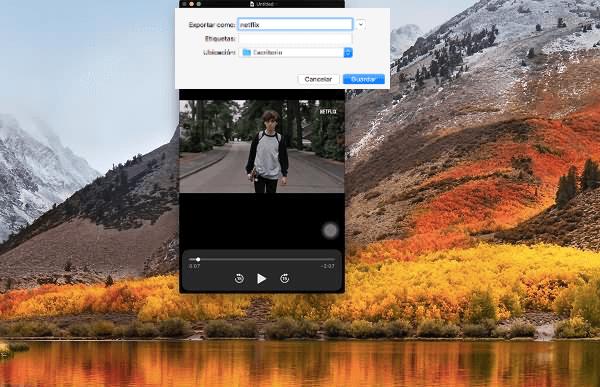grabar vídeo Netflix en Mac