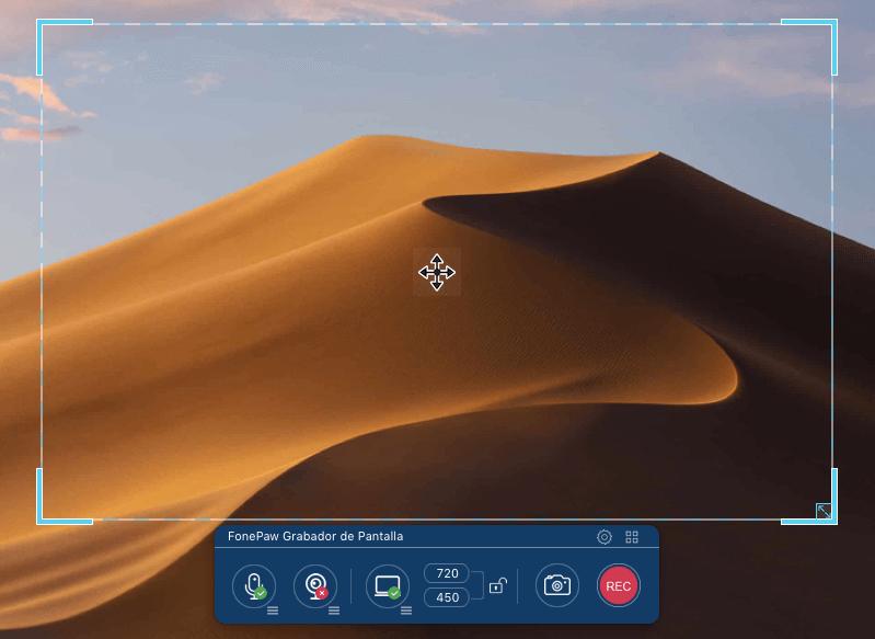 hacer captura de Mac con FonePaw Grabador de Pantalla