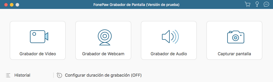 grabar YouTube video en Mac con FonePaw Grabador de Pantalla