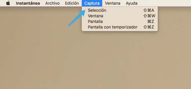 aplicación Instantánea en Mac